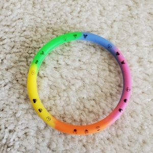 Jewelry - Rainbow Peace Love Disney Bracelet